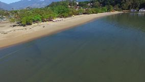 Aerial view in Paraty city - Rio de janeiro - Brazil stock video