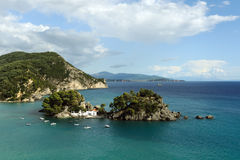 Aerial view of Parga Royalty Free Stock Photography