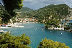 Aerial view of Parga Royalty Free Stock Photo