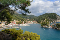Aerial view Parga, Greece Stock Photography