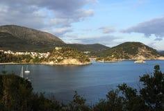 Aerial view of Parga, Greece Stock Photos