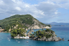 Aerial view of Parga, Greece Royalty Free Stock Photo