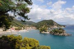 Aerial view of Parga, Greece Royalty Free Stock Photos