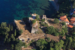 Aerial view on Parga Greece Stock Photos