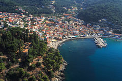 Aerial view on Parga Greece Stock Image