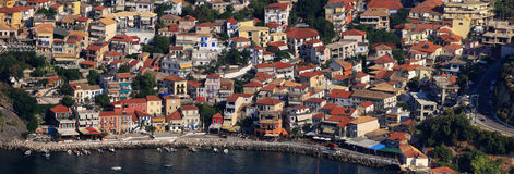 Aerial view on Parga Greece Royalty Free Stock Image