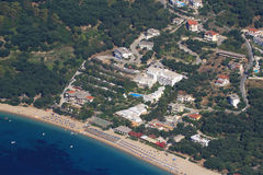 Aerial view on Parga Greece Royalty Free Stock Photos