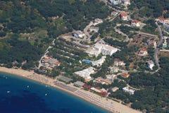 Aerial view on Parga Greece Royalty Free Stock Photos