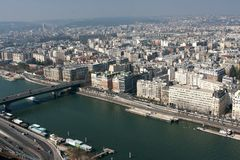 Aerial view, Paris Stock Photography