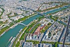 Aerial view of Paris stock photos