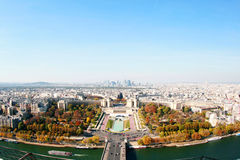 Aerial view of Paris. From Tour Eiffel Royalty Free Stock Image