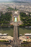 Aerial view on Paris. Stock Images