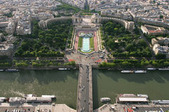 Aerial view on Paris. Royalty Free Stock Photos