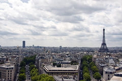 Aerial view of Paris stock image