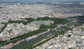 Aerial view of Paris Royalty Free Stock Photos