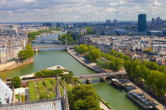 Aerial view of Paris Stock Photos