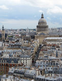 Aerial view of paris. Pantheon - aerial view of paris Stock Photo