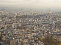 Aerial view on Paris Stock Image