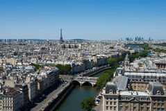 Aerial view of the Paris. Royalty Free Stock Photography