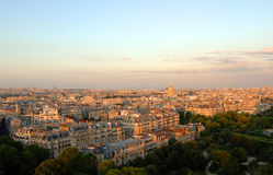 Aerial view of paris Stock Image