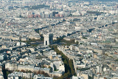 Aerial view of Paris. From Tour Eiffel Royalty Free Stock Images
