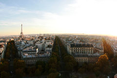 Aerial view of Paris. From Arc de Triumph Royalty Free Stock Photo