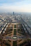 Aerial view at Paris Royalty Free Stock Photo