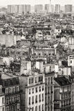 Aerial View of Paris. Black and White Stock Images