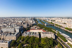 Aerial view of Paris city Royalty Free Stock Photography