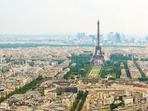 Aerial view of Paris city, France Royalty Free Stock Photography