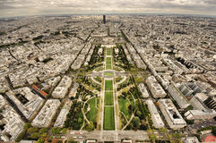 Aerial view of Paris City Royalty Free Stock Photos