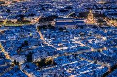 Aerial view paris cityscape  France Stock Photo