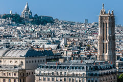Aerial view paris cityscape  France Royalty Free Stock Photography