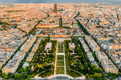 Aerial view paris cityscape  France Stock Photo