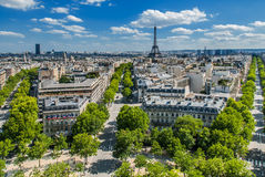 Aerial view paris cityscape  France Stock Photography