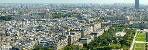 Aerial view of Paris from Eiffel Tower Stock Photos