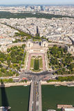 Aerial view of Paris on Eiffel Tower Royalty Free Stock Photos