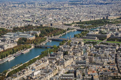Aerial view of Paris from Eiffel Tower Royalty Free Stock Photography