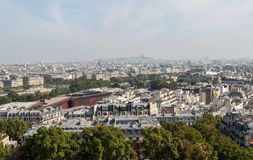 Aerial view of Paris from the Eiffel tower Stock Photos