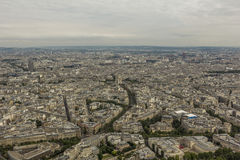 Aerial view of Paris from the Eiffel tower Royalty Free Stock Photography