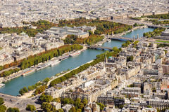 Aerial view of Paris from Eiffel Tower. France Royalty Free Stock Photo