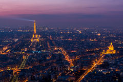 Aerial view of Paris Royalty Free Stock Images