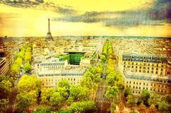 Aerial view of Paris Royalty Free Stock Photography