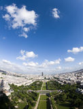 Aerial view paris france champ de mars park Stock Images