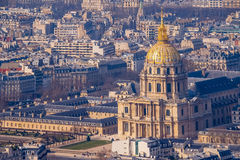 Aerial view of Paris Royalty Free Stock Image