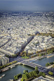 Aerial View on Paris, France Royalty Free Stock Photography