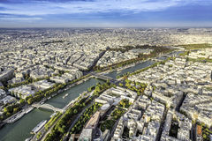 Aerial View on Paris, France Royalty Free Stock Photo