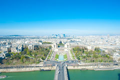 Aerial View of Paris, France from Eiffel Tower Stock Images