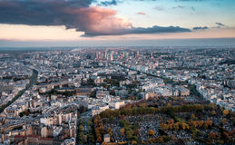 Aerial view of Paris, France in late autumn. royalty free stock photo