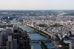An aerial view of Paris, France royalty free stock photography